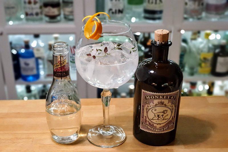 Gin og Tonic med Monkey 47 Schewarzwald Dry Gin