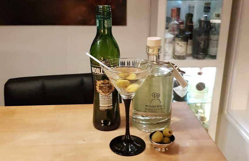 Dry Martini med Woodhill Gin