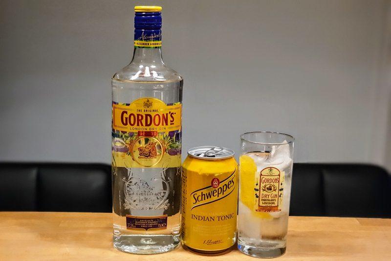 Gin og Tonic med Gordons London Dry Gin