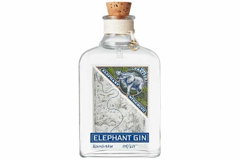 En flaske Elephant Strengt gin inneholder 57 % alkohol
