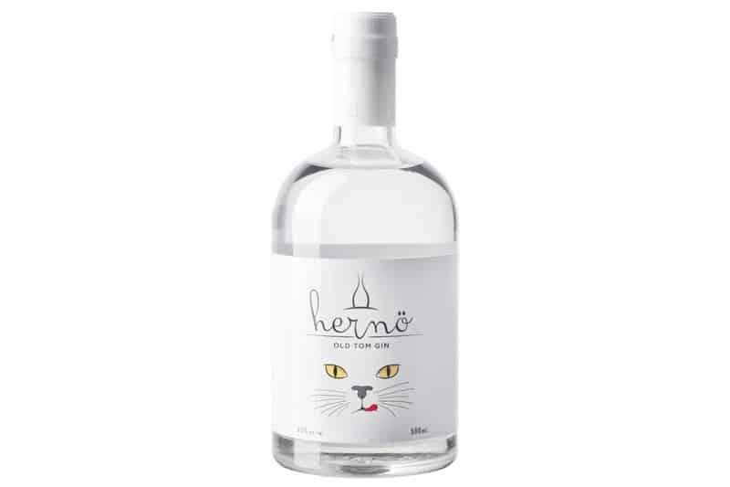 En flaske Hernö Old Tom Gin