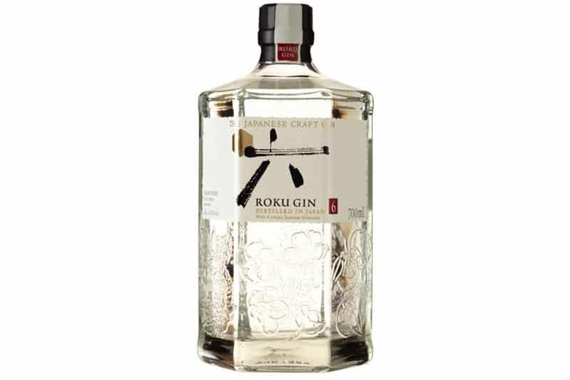 En flaske med Roku Gin fra Japan