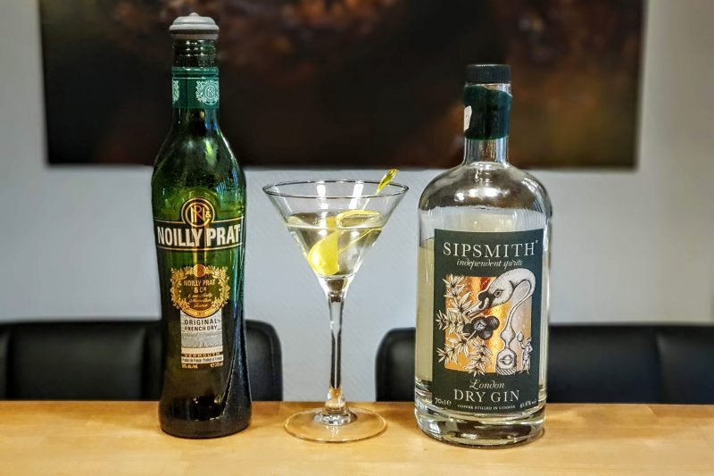 Dry Martini med Sipsmith London Dry Gin