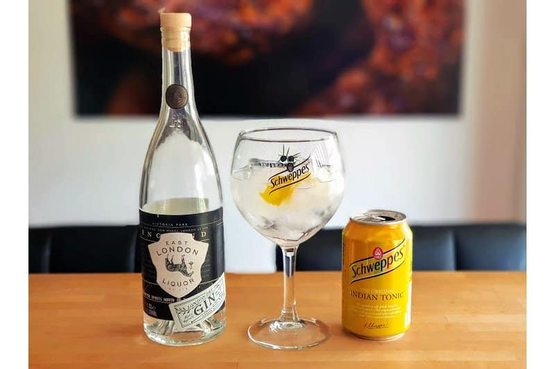 Gin og Tonic-med-East-London-Liquor Company London Dry Gin