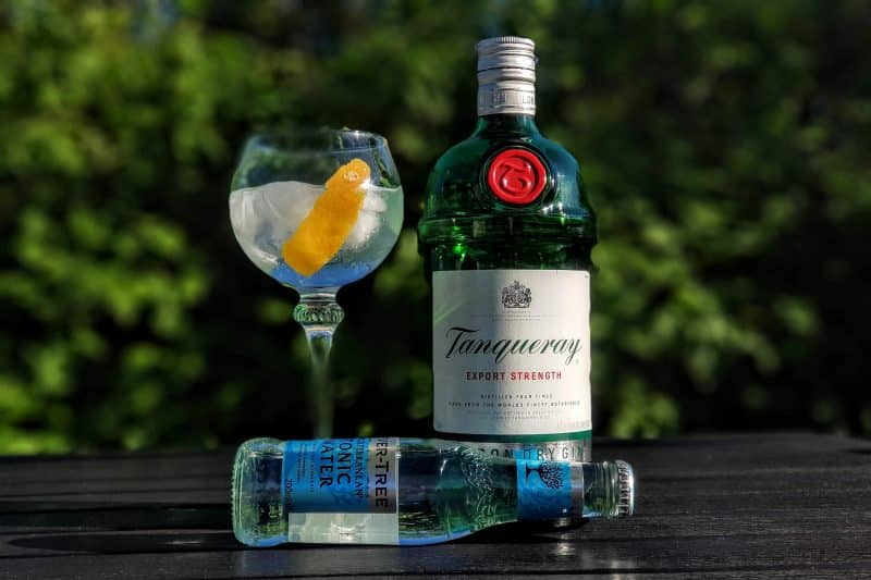 Gin Tonic Tanqueray London Dry Gin Mediterranean
