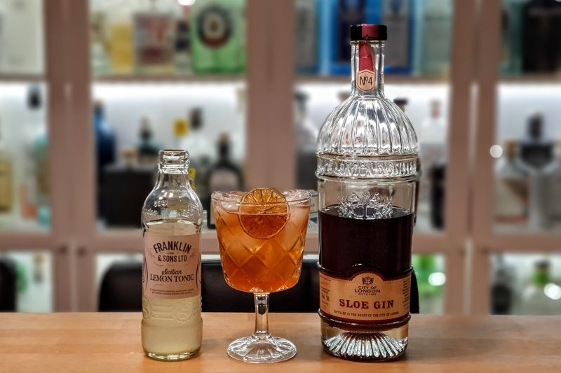 Gin og Tonic med City of London Sloe Gin