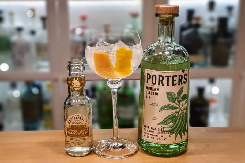 Gin Tonic med Porters Modern Classic Gin