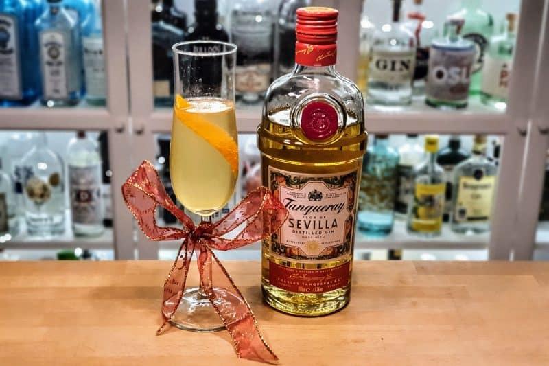 French 75 med Tanqueray Flor de Sevilla Gin