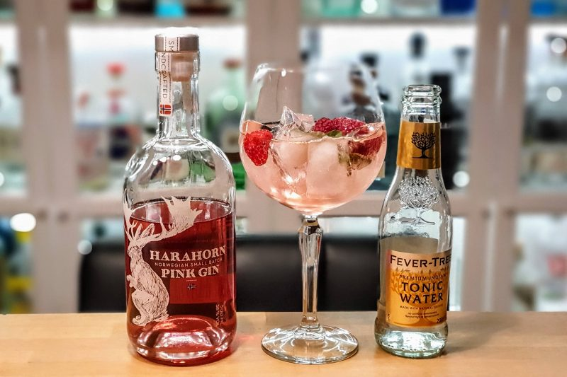 Gin og Tonic med Harahorn Pink Gin