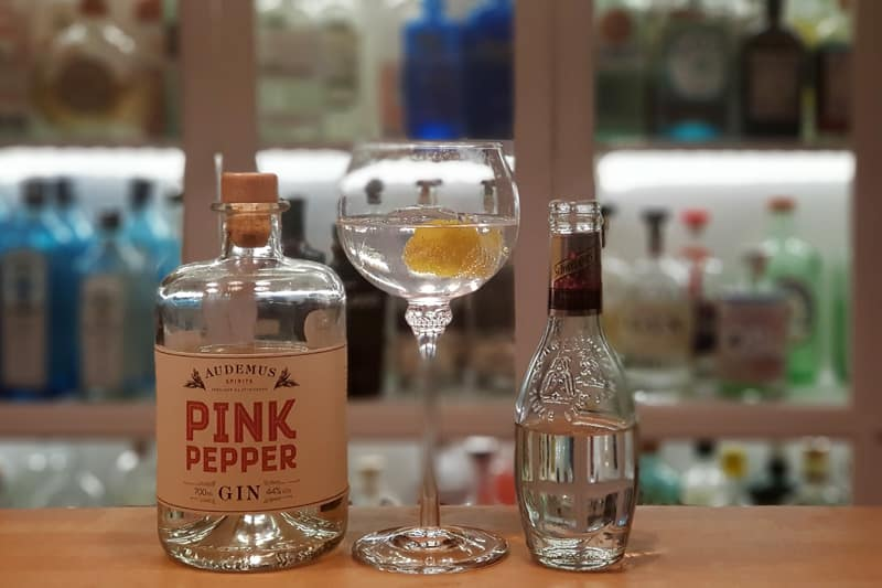 Gin og Tonic med Pink Pepper Gin