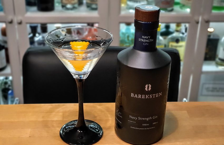 Dry Martini med Bareksten Navy Strength Gin