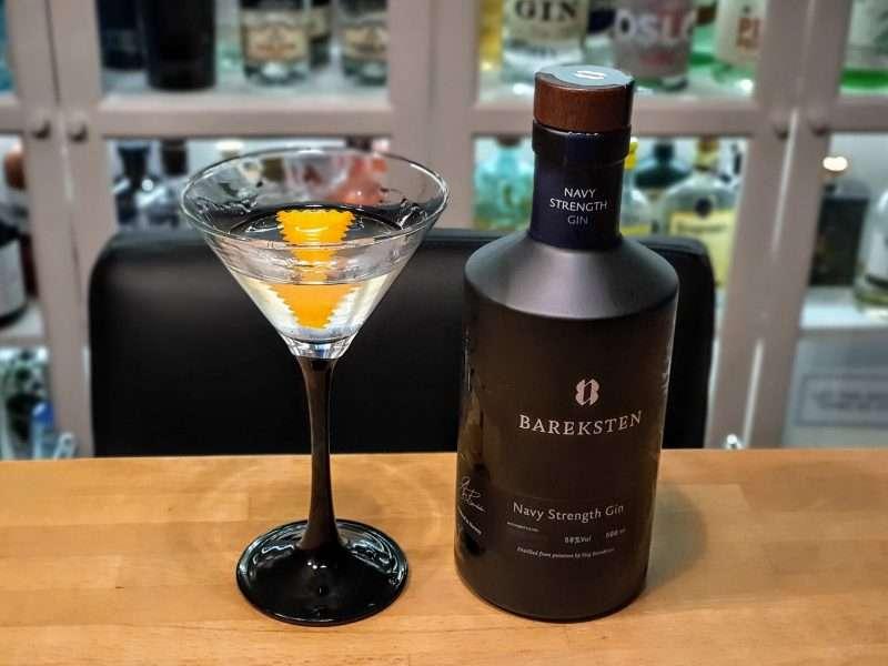 Dry Martini med Bareksten Navy Strength Gin