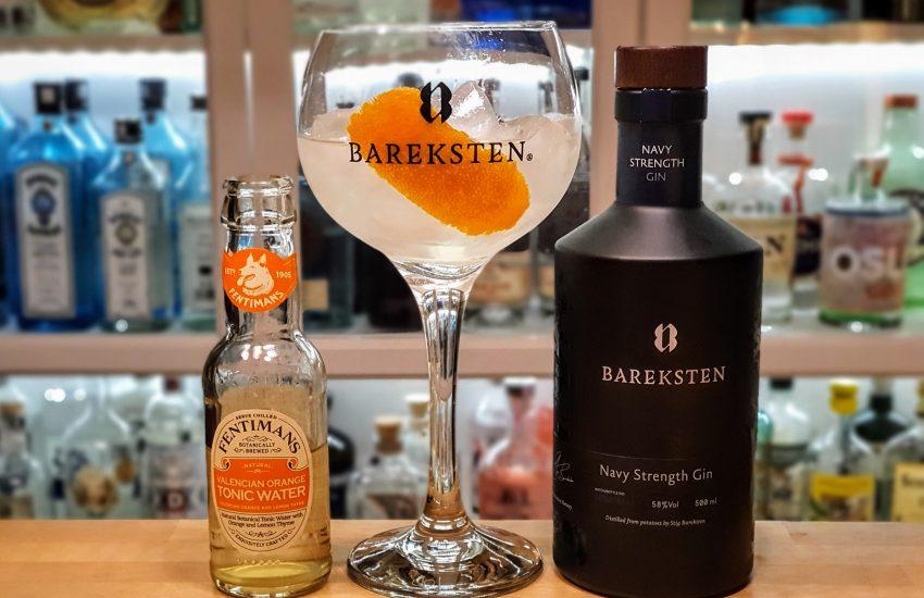 Gin Tonic med Bareksten Navy Strength Gin