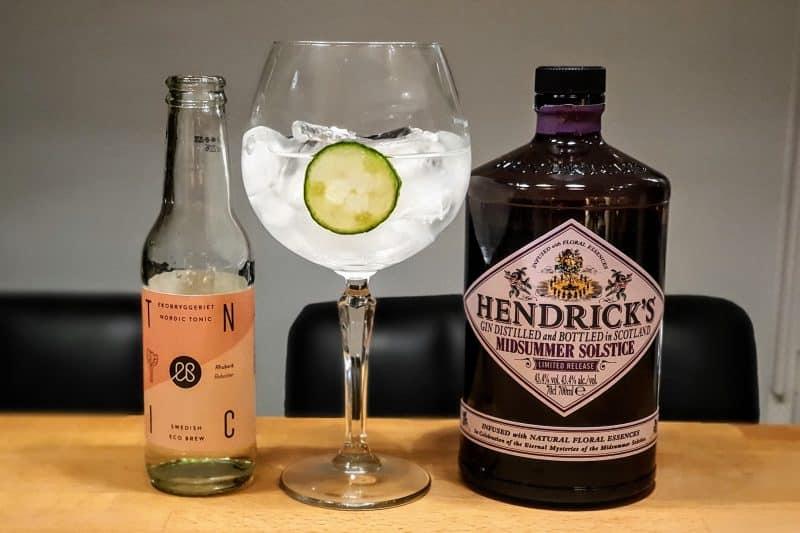 Gin Tonic med Hendricks Midsummer Solstice Gin