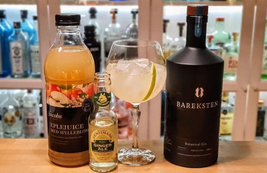 Bareksten Gin med ginger ale
