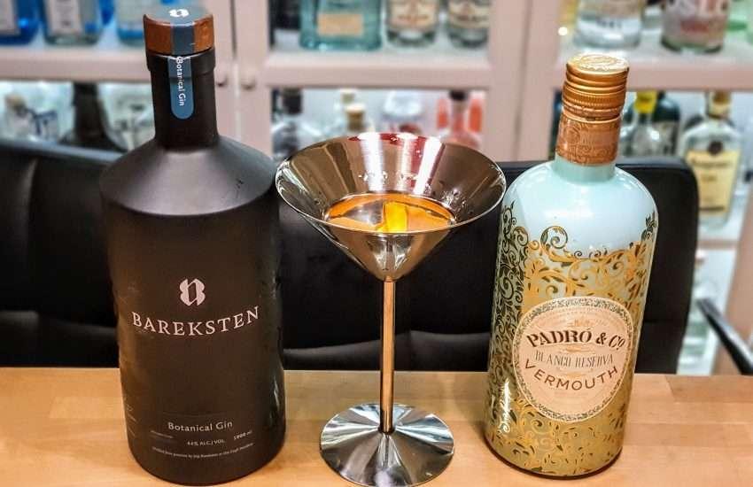 Dry Martini med Bareksten Gin og søt vermut