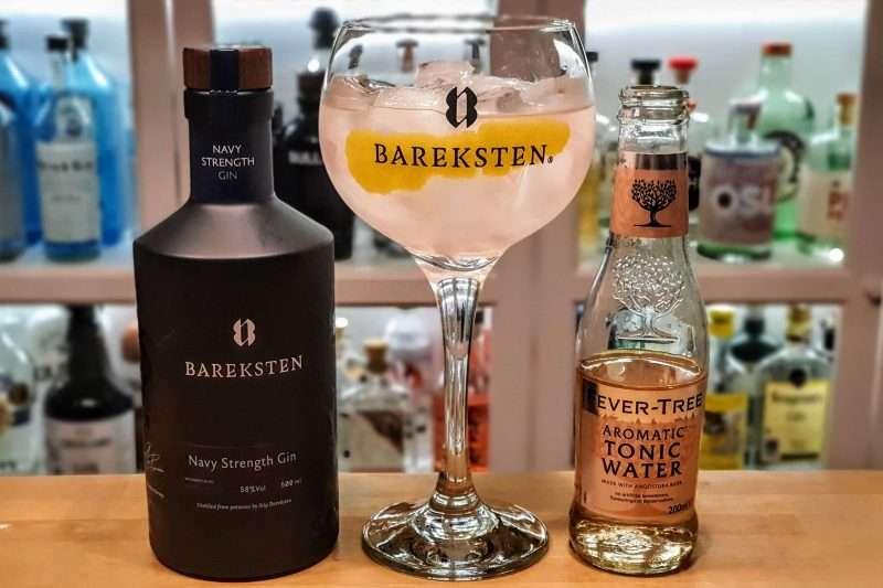 Gin og Tonic med Bareksten Navy Strength Gin