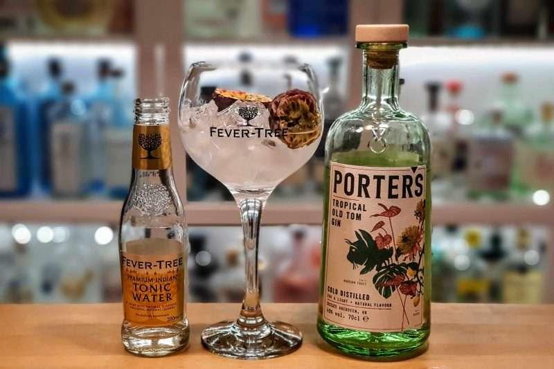 Gin og Tonic med Porters Tropical Old Tom Gin