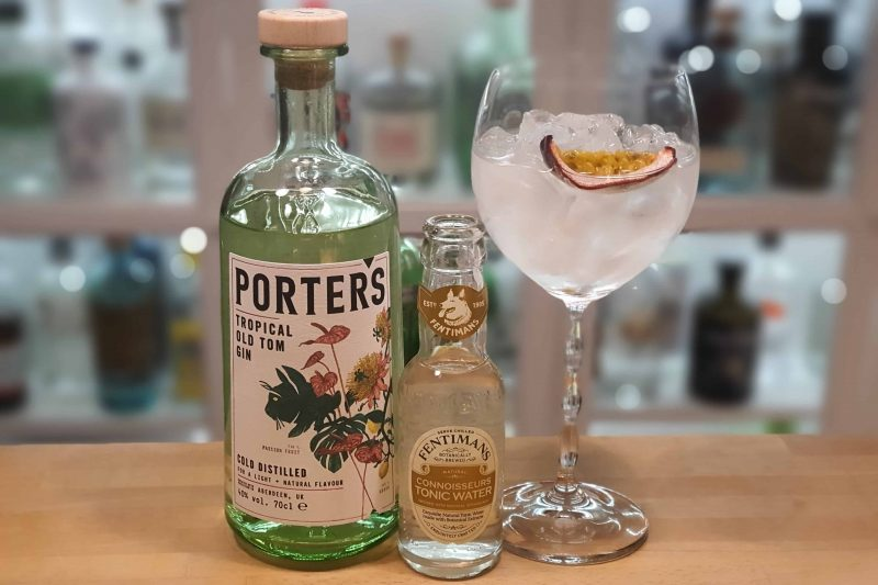 Gin og Tonic med Porters old Tom Gin