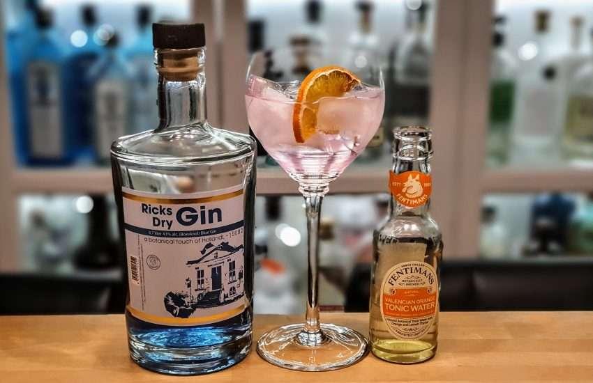 Gin-Tonic med Ricks Blue Dry Gin