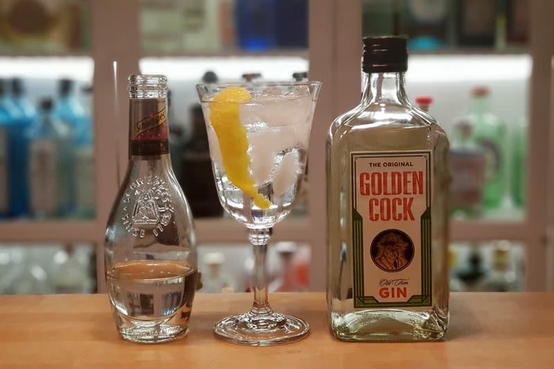 Gin og Tonic med Golden Cock Gin