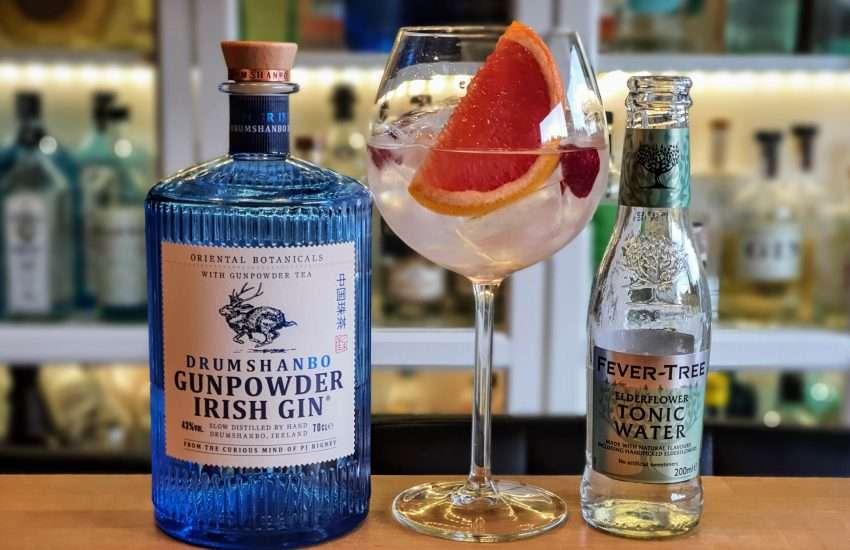 Gin Tonic med Drumshandbo Gunpowder Irish Gin 