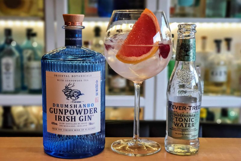 Gin Tonic med Drumshandbo Gunpowder Irish Gin|