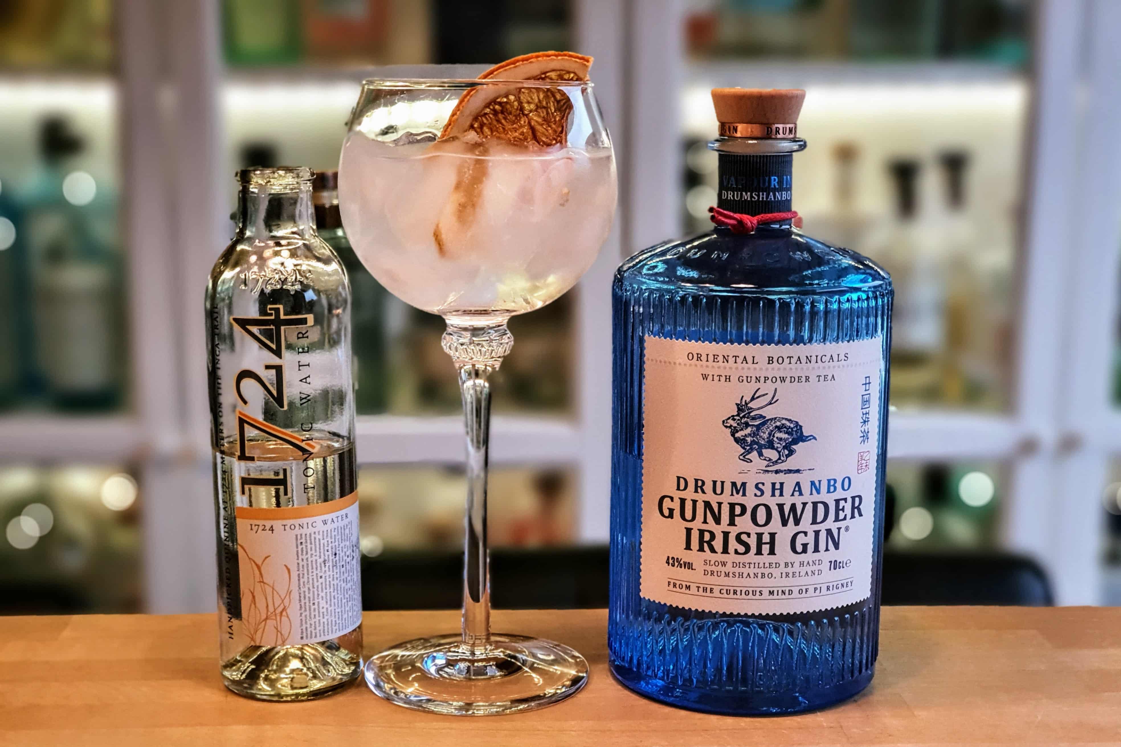 Gin og Tonic med Drumshandbo Gunpowder Irish Gin