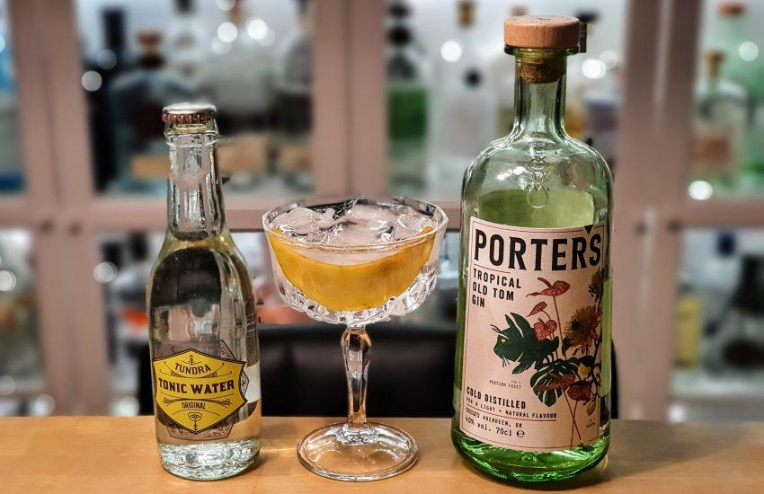 Gin og Tonic med Porters Old Tom Gin og Tundra Tonic