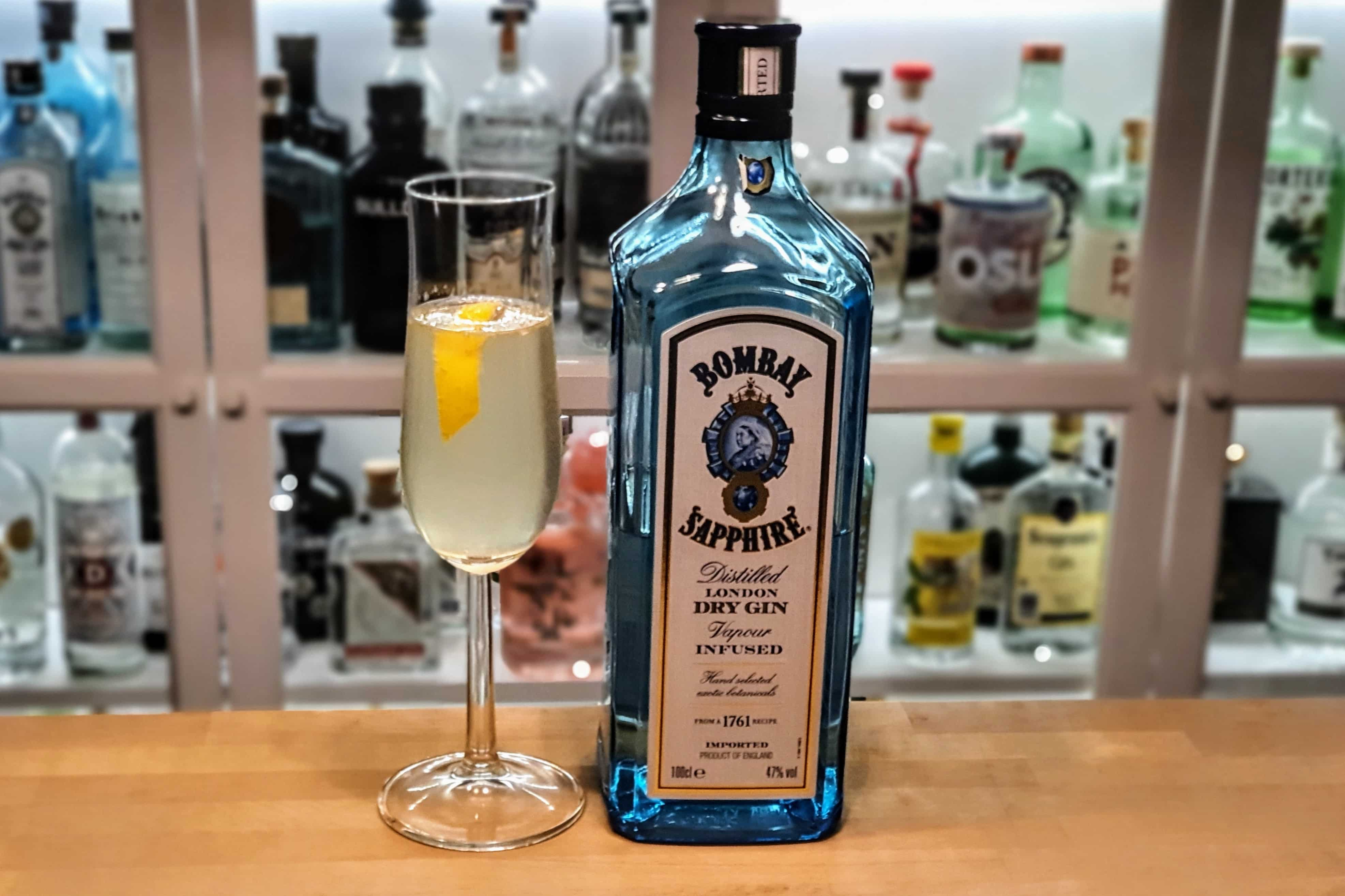 French 75 med Bombay Sapphire Gin