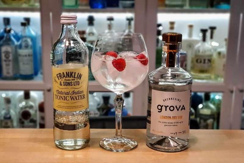 Gin og Tonic med Brennevinsgrova London Dry Gin