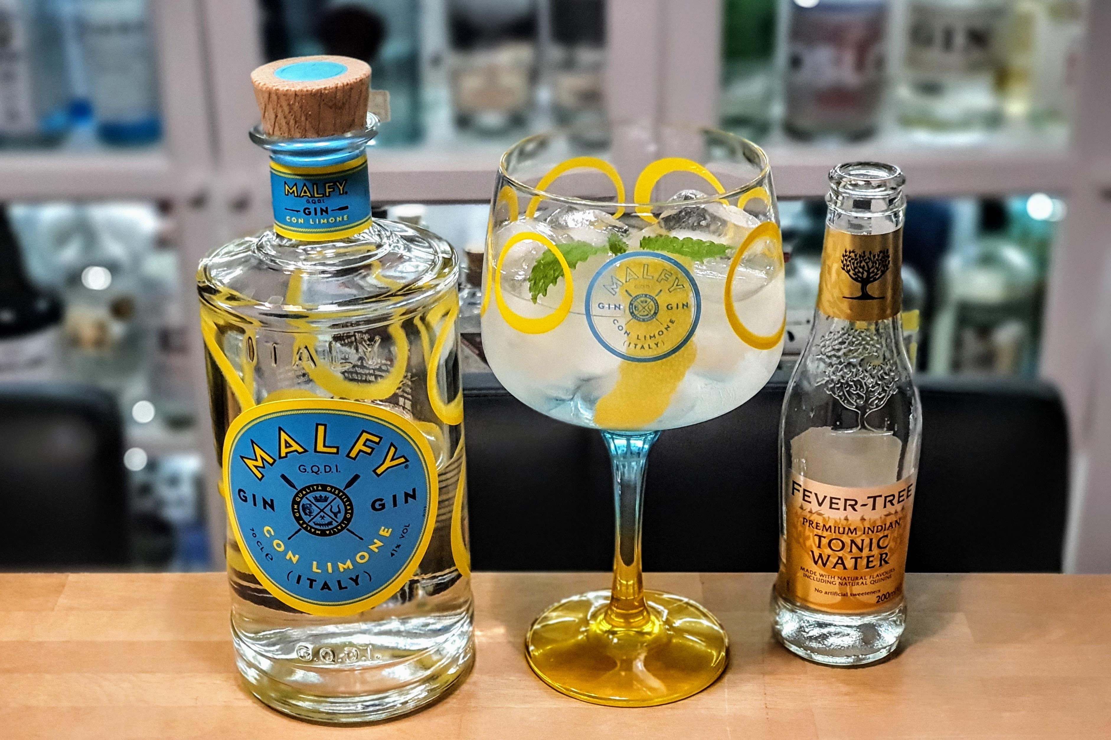 Gin og Tonic med Malfy Gin Con Limone