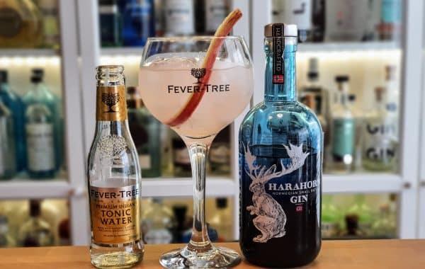 Harahorn Gin og Tonic med rabarbrasirup