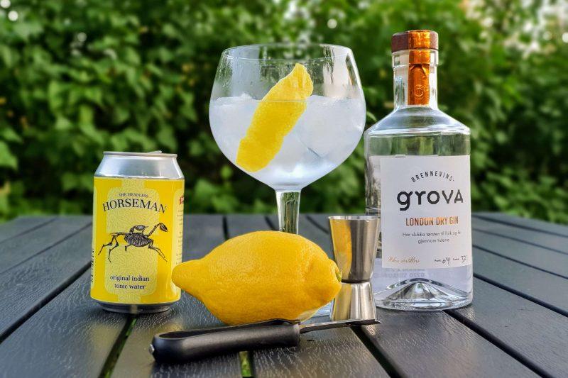 Gin Tonic med Brennevinsgrova London Dry Gin