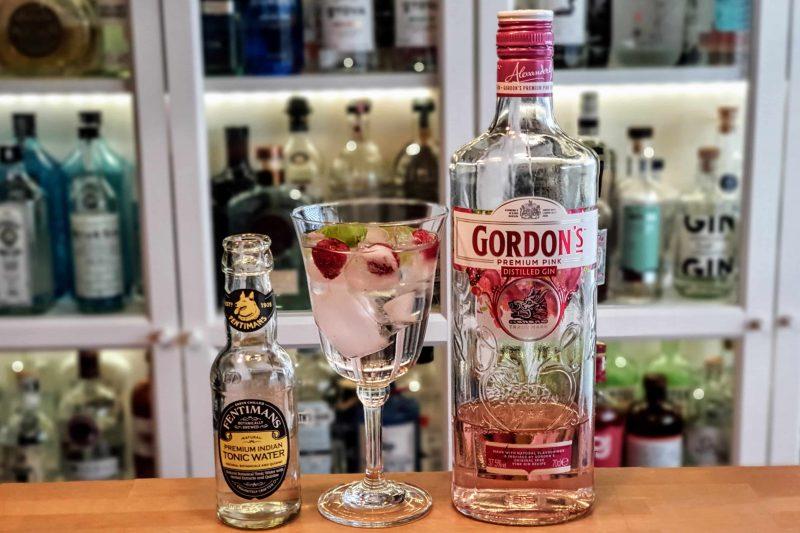 Gin Tonic med Gordons Pink Gin