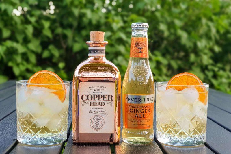 Copperhead Gin og ingefærøl