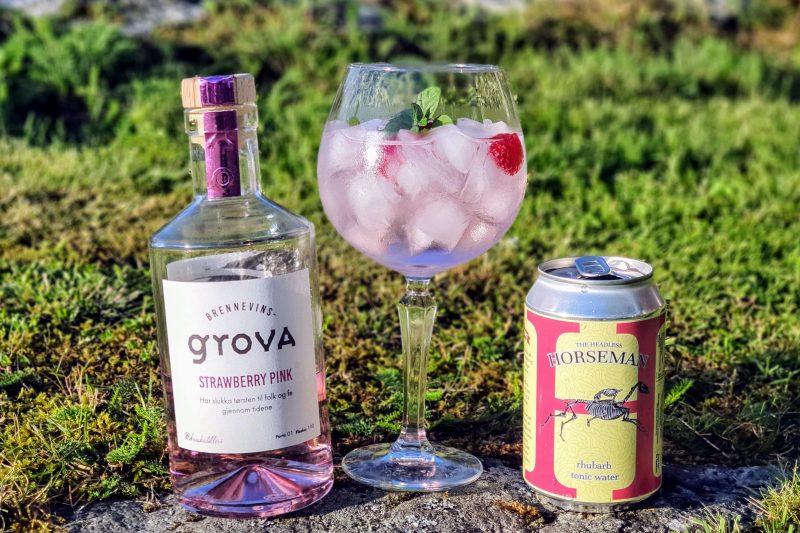 Gin-Tonic med Brennevinsgrova Pink Gin