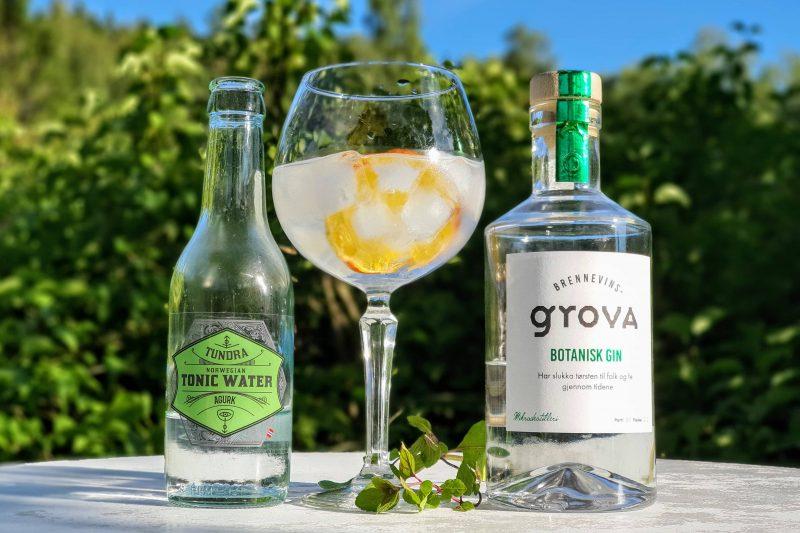 Gin og Tonic med Brennevinsgrova Botanisk Gin