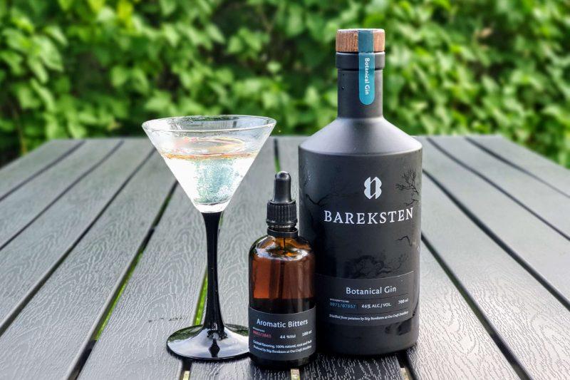 Rabarbra Martini med Bareksten Botanical Gin