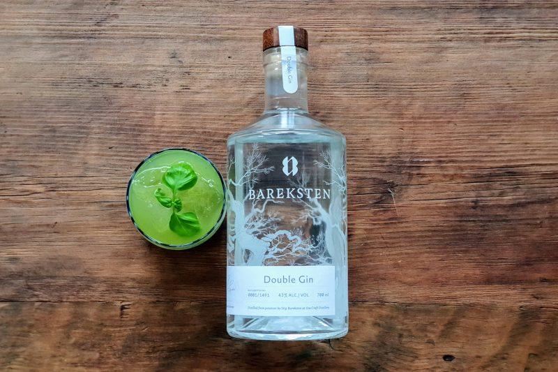 Gin-Basil Smash med Bareksten Double Gin