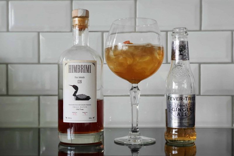 Himbrimi Old Tom Gin med Fever-Tree Smoky Ginger Ale