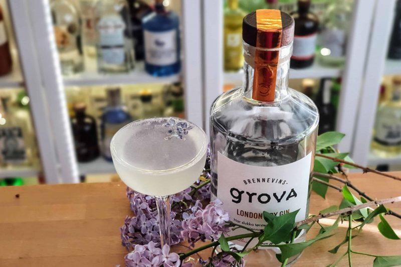 Syrin-drøm cocktail med Brennevinsgrova London Dry Gin