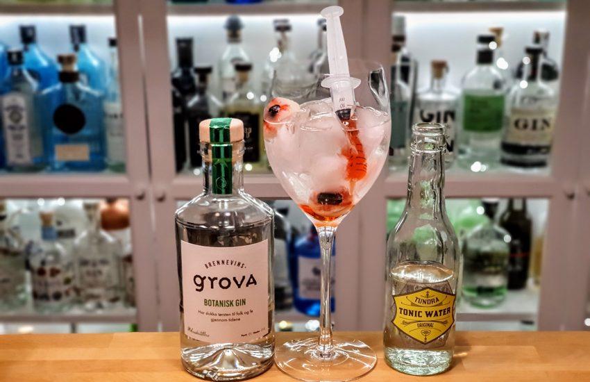 Bloody Gin & Tonic med Brennevinsgrova Botanisk Gin