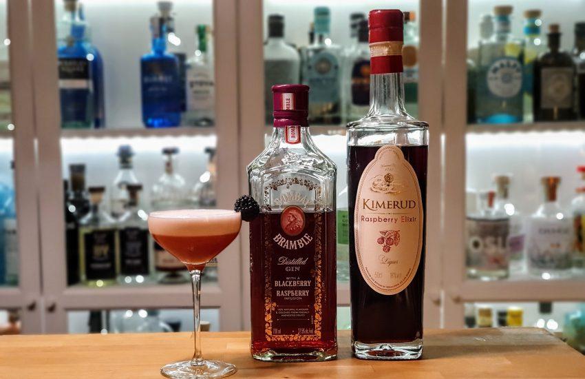 Clover Club med Bombay Bramble og Kimerud Raspberry Elixir