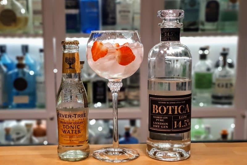 Gin og Tonic med Botica Low og jordbær