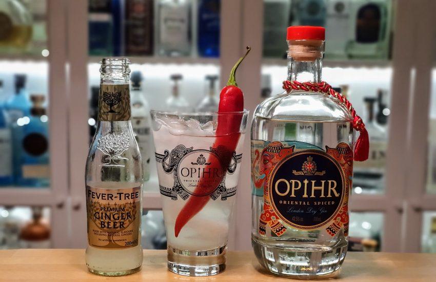 Opihr Gin med ingefærøl og chili