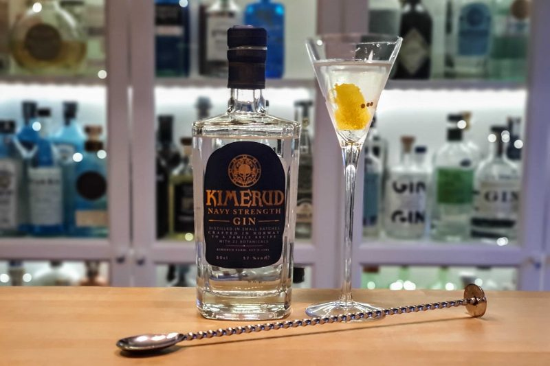 Dry Martini med Kimerud Navy Strength Gin