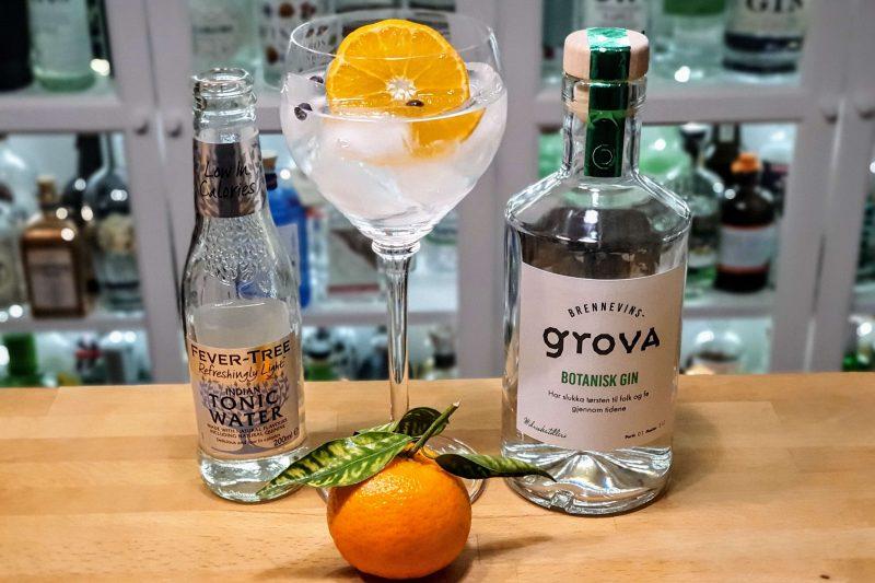 Gin Tonic med Brennvinsgrova Botanisk Gin