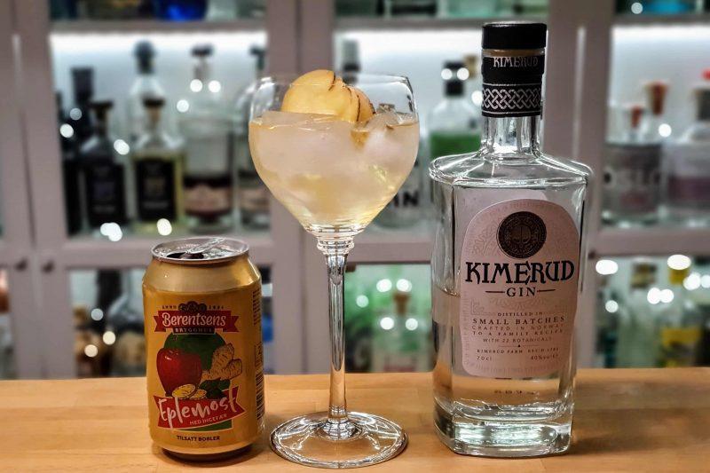 Kimerud Gin med eplemost og ingefær