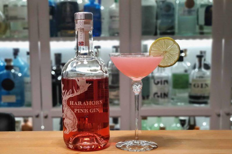 Pink Gimlet med Harahorn Pink Gin